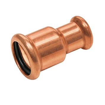 Bonfix press water verloopkoppeling 15x22mm roodkoper