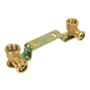 """Bonfix press water muurbrug/muurbeugel (press x binnendraad) 15mm x 1/2"""" roodkoper"""