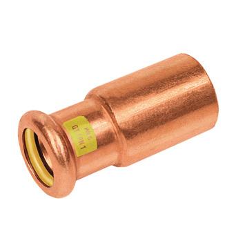 Bonfix press gas insteekkoppeling 15x22mm roodkoper