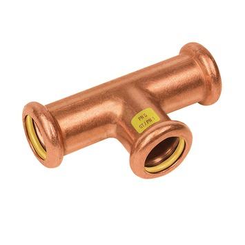 Bonfix press gas T-stuk 22x22x22mm roodkoper