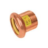 Bonfix press gas eindkoppeling 22mm roodkoper