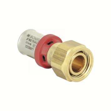 """Bonfix alu-press 2-delige koppelmoer Euroco. 1/2"""" x 16x2,0mm"""