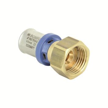 """Bonfix alu-press 2-delige koppelmoer 3/4"""" x 16x2,0mm"""