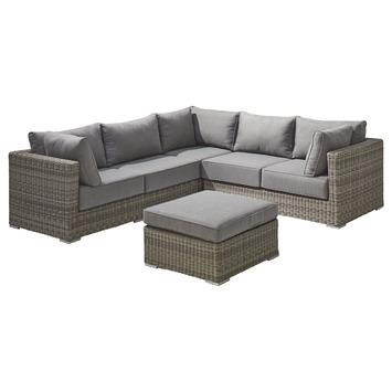 Loungeset Levante Grijs Wicker