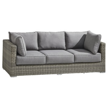 Loungebank Levante Grijs Wicker 83x214x66 cm