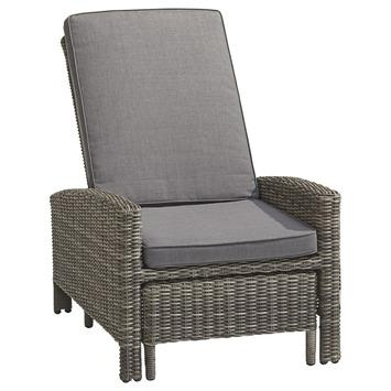 Loungestoel Levante Grijs Wicker