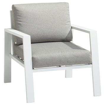 Luxe Lounge Stoel.Gamma Loungestoel Cannes Deluxe Wit Aluminium Kopen Tuinstoelen