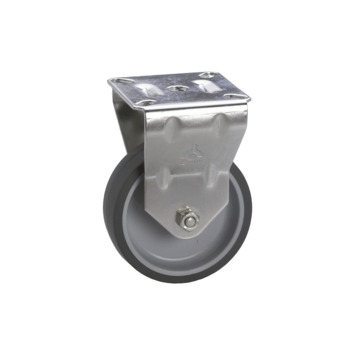 Bokwiel TPE met plaatbevestiging Ø 50 mm max. 40 kg