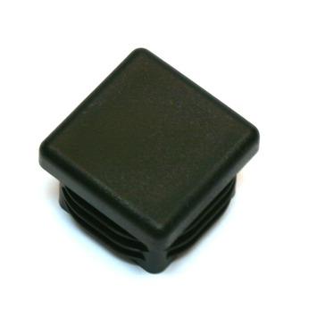 HANDSON meubeldop vierkant 15x15mm zwart 4 stuks