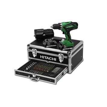 Hitachi accuboormachine DS18DJL 18 volt 1.5Ah + 100 delige accessoireset