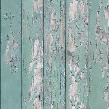Vliesbehang Afgebladerd hout groen 103316