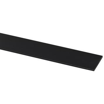 Afdekprofiel kunststof zwart zelfklevend 2x30mm 260cm