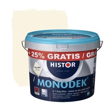 Histor Monodek latex RAL 9001 crème wit 10 liter + 25%