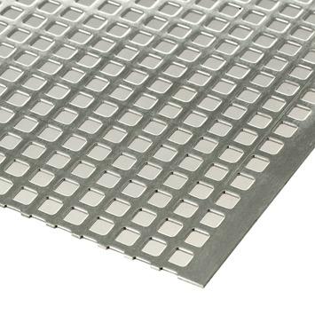 Plaat geperforeerd aluminium 100x50 cm