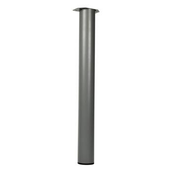 Duraline Tafelpoot rond zilvergrijs Ø 76 mm 72 cm