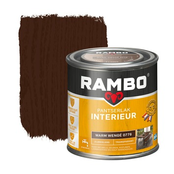 Rambo pantserlak interieur transparant zijdeglans warm wengé 250 ml