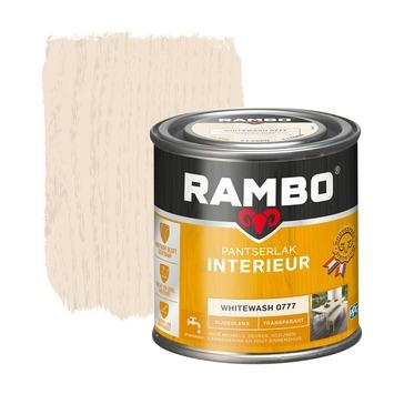 Rambo pantserlak interieur transparant zijdeglans whitewash 250 ml