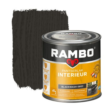 Rambo pantserlak interieur transparant zijdeglans blackwash 250 ml
