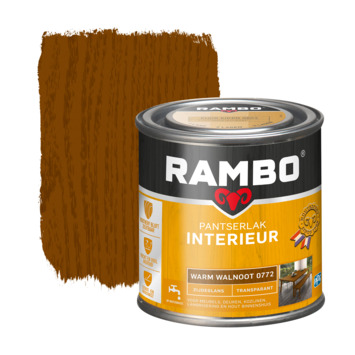 Rambo pantserlak interieur transparant zijdeglans warm walnoot 250 ml