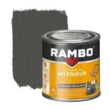 Rambo pantserlak interieur transparant zijdeglans antraciet grijs 250 ml