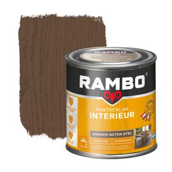 Rambo pantserlak interieur transparant zijdeglans donker noten 250 ml