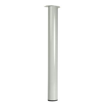 Duraline tafelpoot rond wit Ø76 mm 72 cm