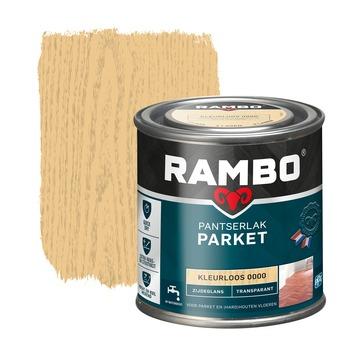 Rambo pantserlak parket transparant zijdeglans kleurloos 250 ml