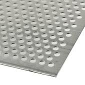Plaat aluminium geperforeerd 100x50 cm