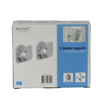 Extreem GAMMA   Essentials luidsprekersteun 5kg zilvergrijs 2 stuks kopen?   XM21