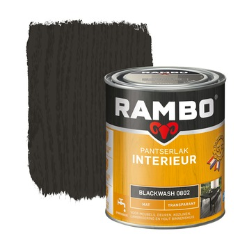 Rambo pantserlak interieur transparant mat blackwash 750 ml