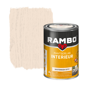 Rambo pantserlak interieur transparant mat whitewash 750 ml