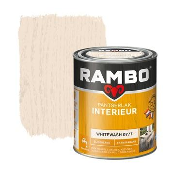 Rambo pantserlak interieur transparant zijdeglans whitewash 750 ml