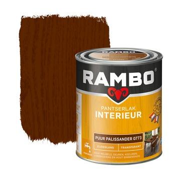 Rambo pantserlak interieur transparant zijdeglans puur palissander 750 ml