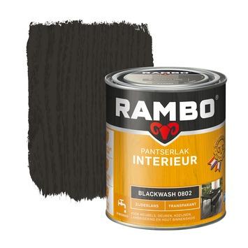Rambo pantserlak interieur transparant zijdeglans blackwash 750 ml