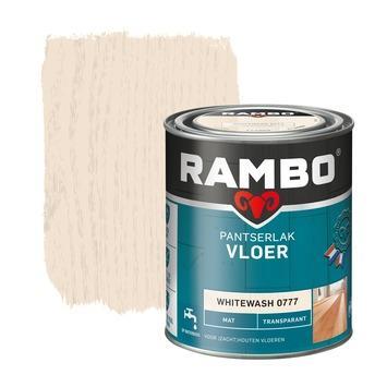 Rambo pantserlak vloer transparant mat whitewash 750 ml