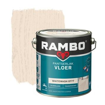 Rambo pantserlak vloer transparant zijdeglans whitewash 2,5 liter