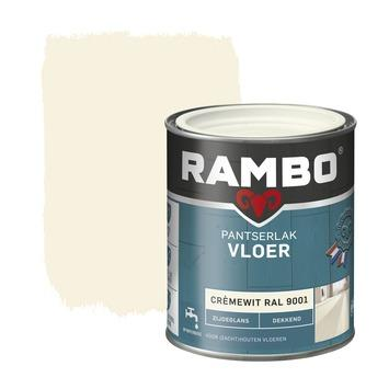 Rambo pantserlak vloer acryl dekkend zijdeglans cremewit 750 ml
