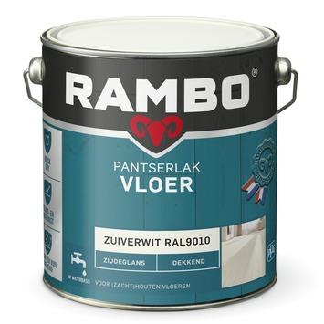 Rambo pantserlak vloer acryl dekkend zijdeglans zuiverwit 2,5 liter