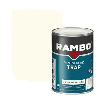 Rambo pantserlak trap dekkend zijdeglans zuiverwit 1,25 liter