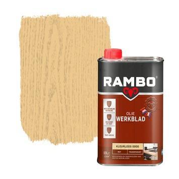Rambo werkblad olie transparant mat kleurloos 500 ml