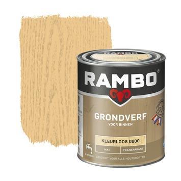 Rambo grondverf transparant mat kleurloos 750 ml