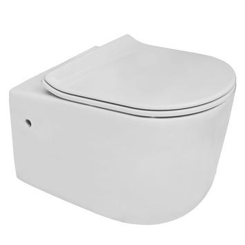 Van Marcke wandcloset Pureflow zonder spoelrand met softclose wc bril wit