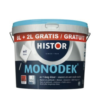 Histor Monodek latex wit 8+2 liter