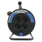 GAMMA Kabelhaspel Mini 10 Meter 3 X 1mm PVC Zwart/ Rood