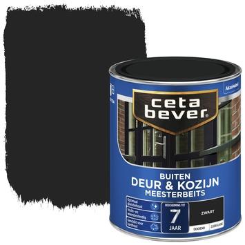 Cetabever deur & kozijn meesterbeits dekkend zwart zijdeglans 750 ml