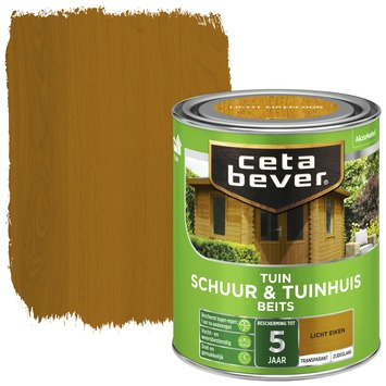 Cetabever schuur & tuinhuis beits transparant licht eiken zijdeglans 750 ml