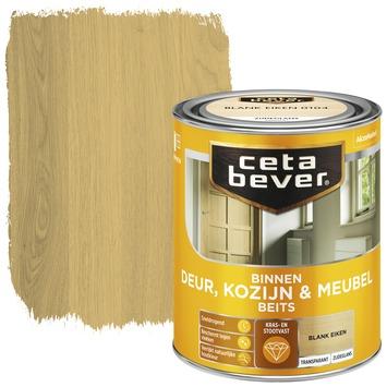 Cetabever deur, kozijn & meubelbeits transparant blank eiken zijdeglans 750 ml