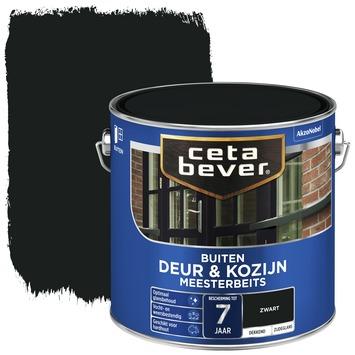 Cetabever deur & kozijn meesterbeits dekkend zijdeglans zwart 2,5 liter
