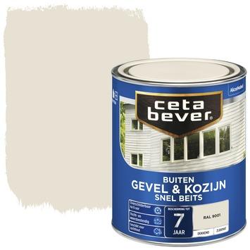 Cetabever gevel & kozijn snel beits dekkend RAL 9001 zijdemat 750 ml