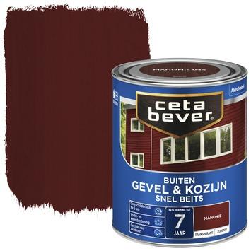 Cetabever gevel & kozijn snel beits transparant mahonie zijdemat 750 ml